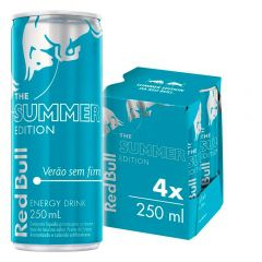 Kit 4 Latas Energético Summer Edition 250ml - Red Bull