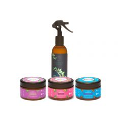 Kit Cosméticos Veganos - 1 Spray Queratina Pro e Cronograma Capilar - Abela Cosmetics