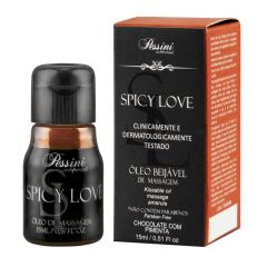 Óleo para beijar Spicy Love sabor chocolate com pimeita - Pessini