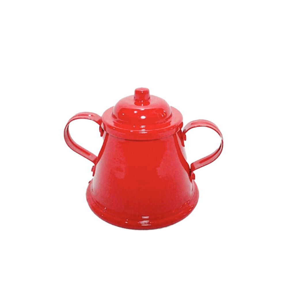 Açucareiro Em Alumínio Vermelho Degusto Arte