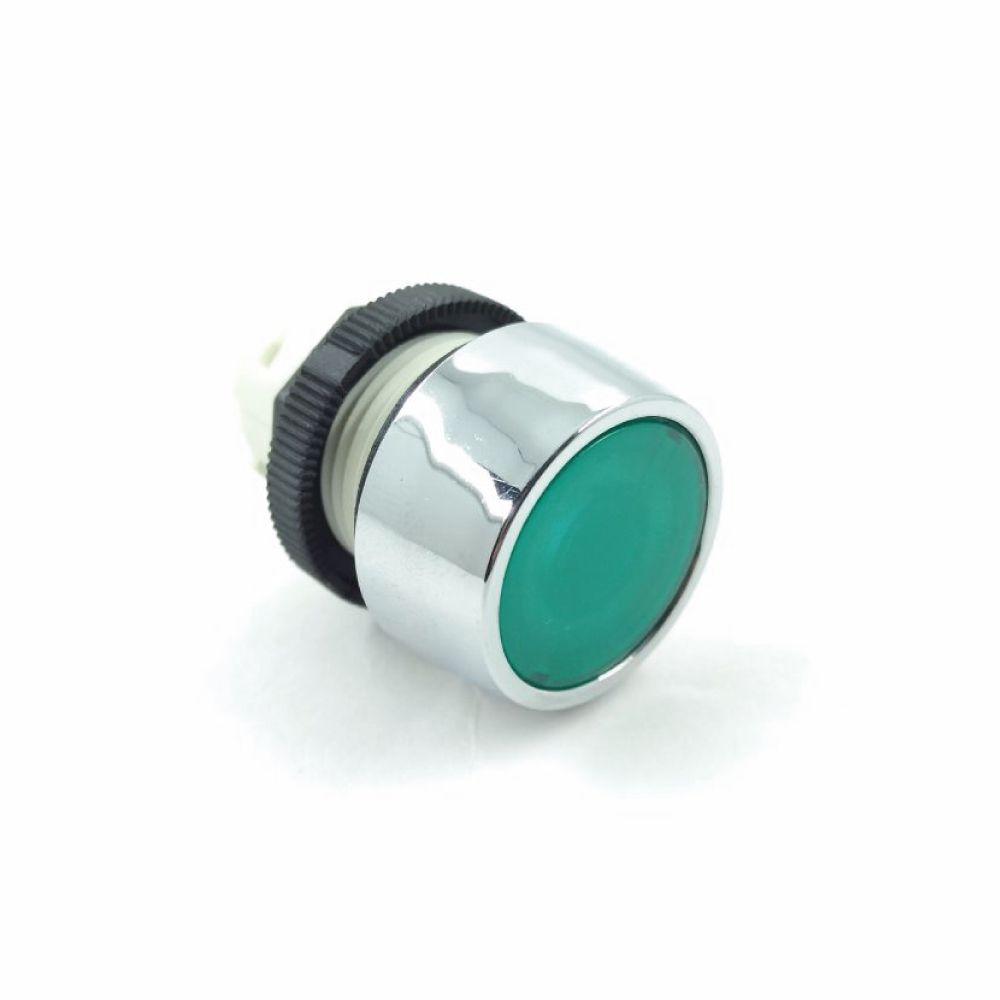 B2/15 - Botão 022 Iluminado com Cogumelo 036 Cromado Verde Ace Schmersal - ML Elétrica