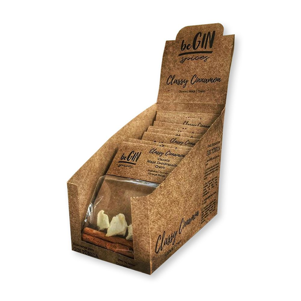 1 Box com 12 Sachês Individuais Sabor Classy Cinnamon