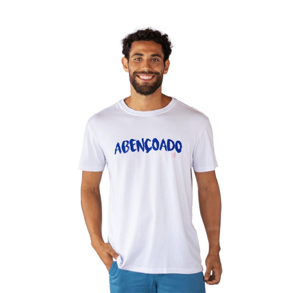 Camiseta Abençoado Algodão Branca Tempt