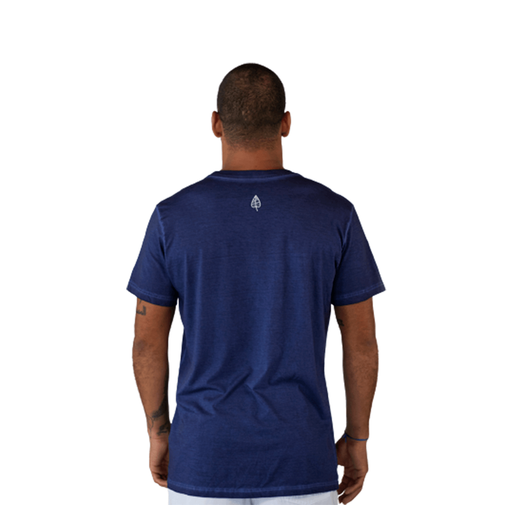 Camiseta Alma Boa Vida Leve Algodão Azul Tempt