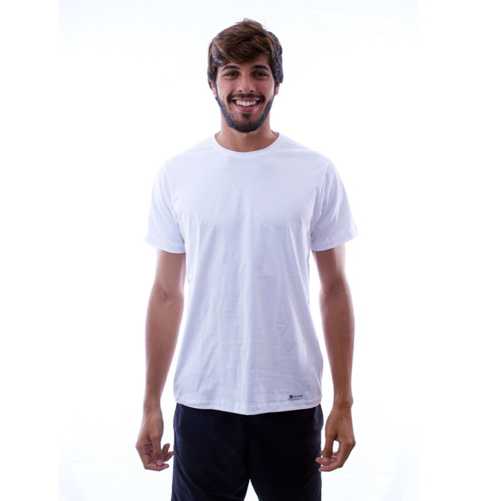 Camiseta Básica Lisa Branca Algodão - Nepan