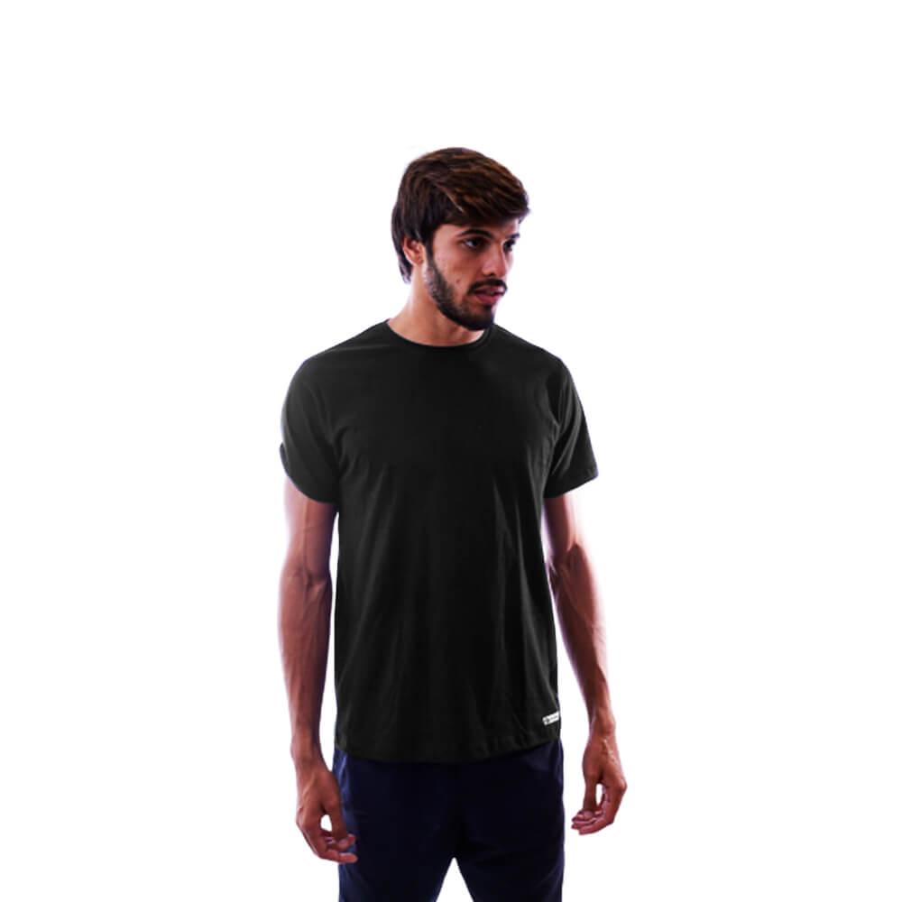 Camiseta Básica Lisa Preta 100% Algodão Nepan