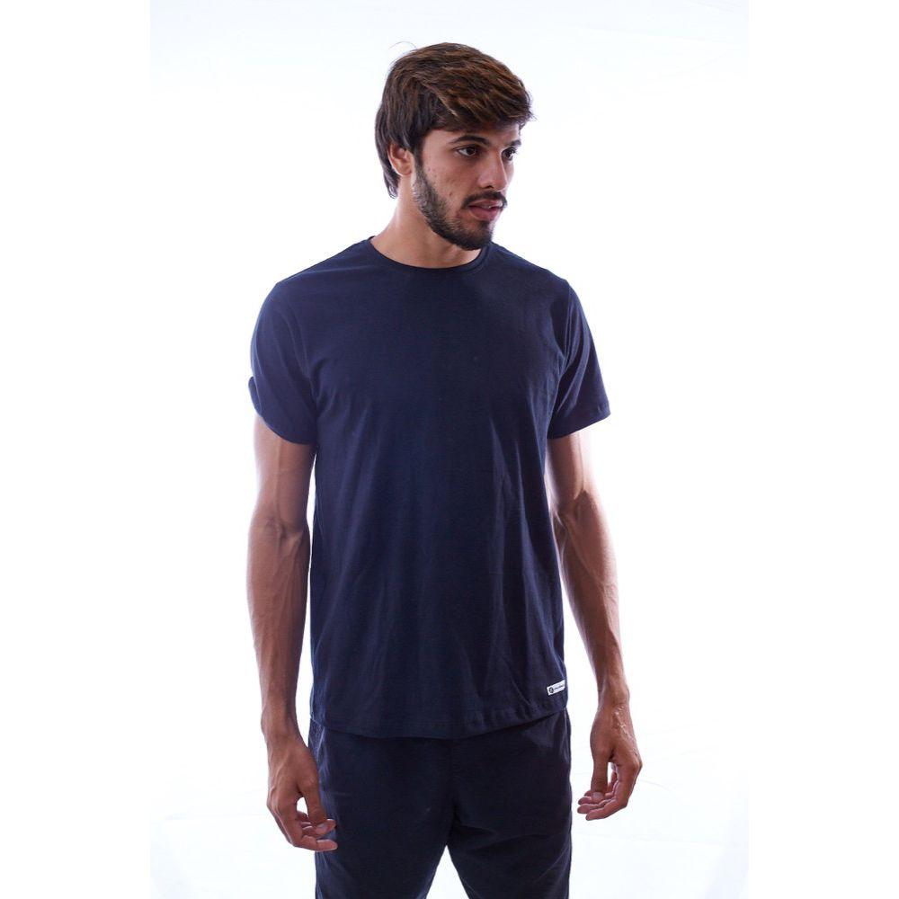 Camiseta Básica Lisa Preta Algodão - Nepan