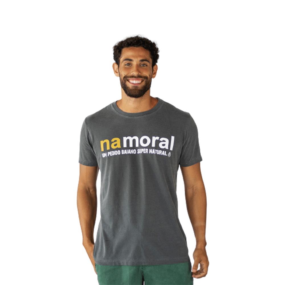 Camiseta Na Moral Algodão Cinza Tempt