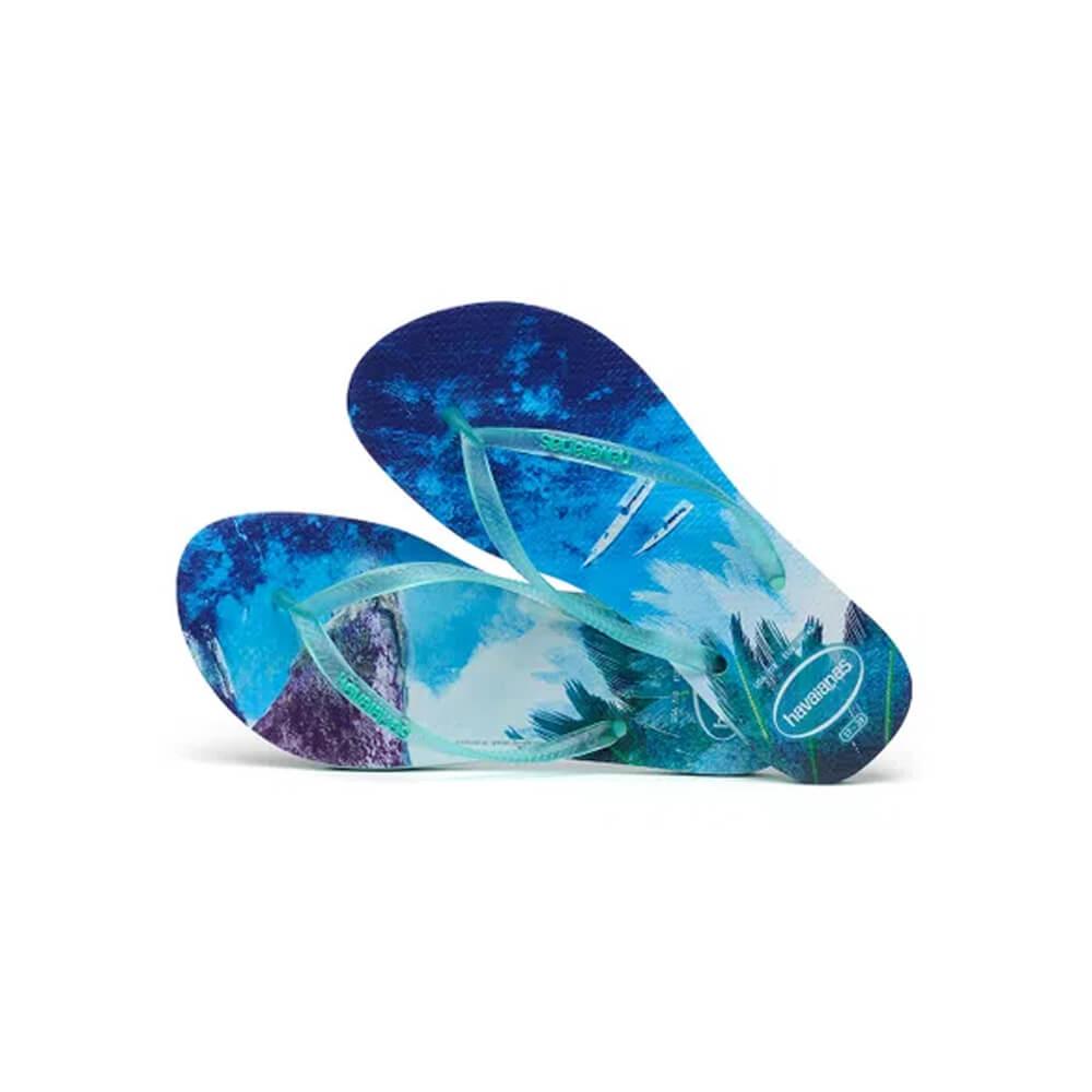 Chinelo Slim Paisage Azul - Havaianas