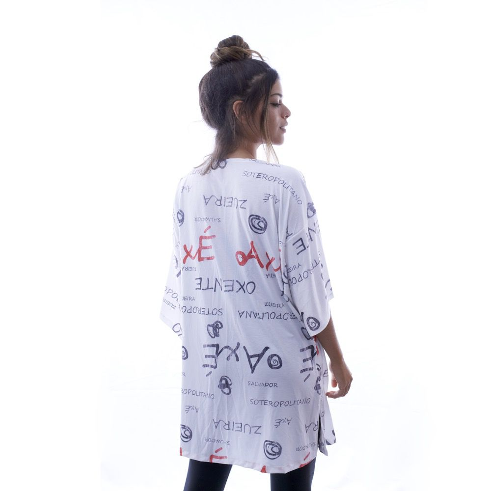 Kimono Branco Estampado - Nepan