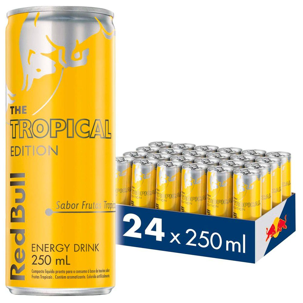 Kit 24 Latas Energético Tropical Edition 250ml - Red Bull