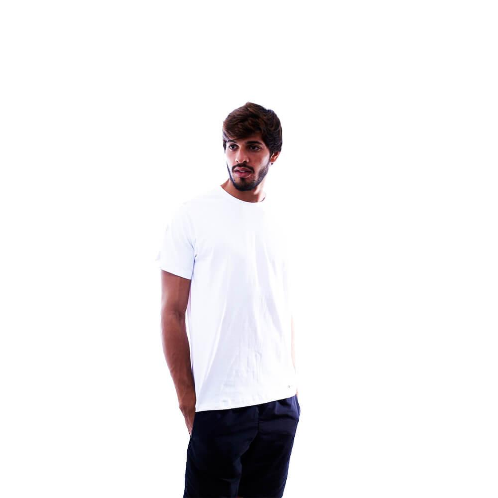 Kit 3 Camisetas Básicas Brancas 100% Algodão Nepan