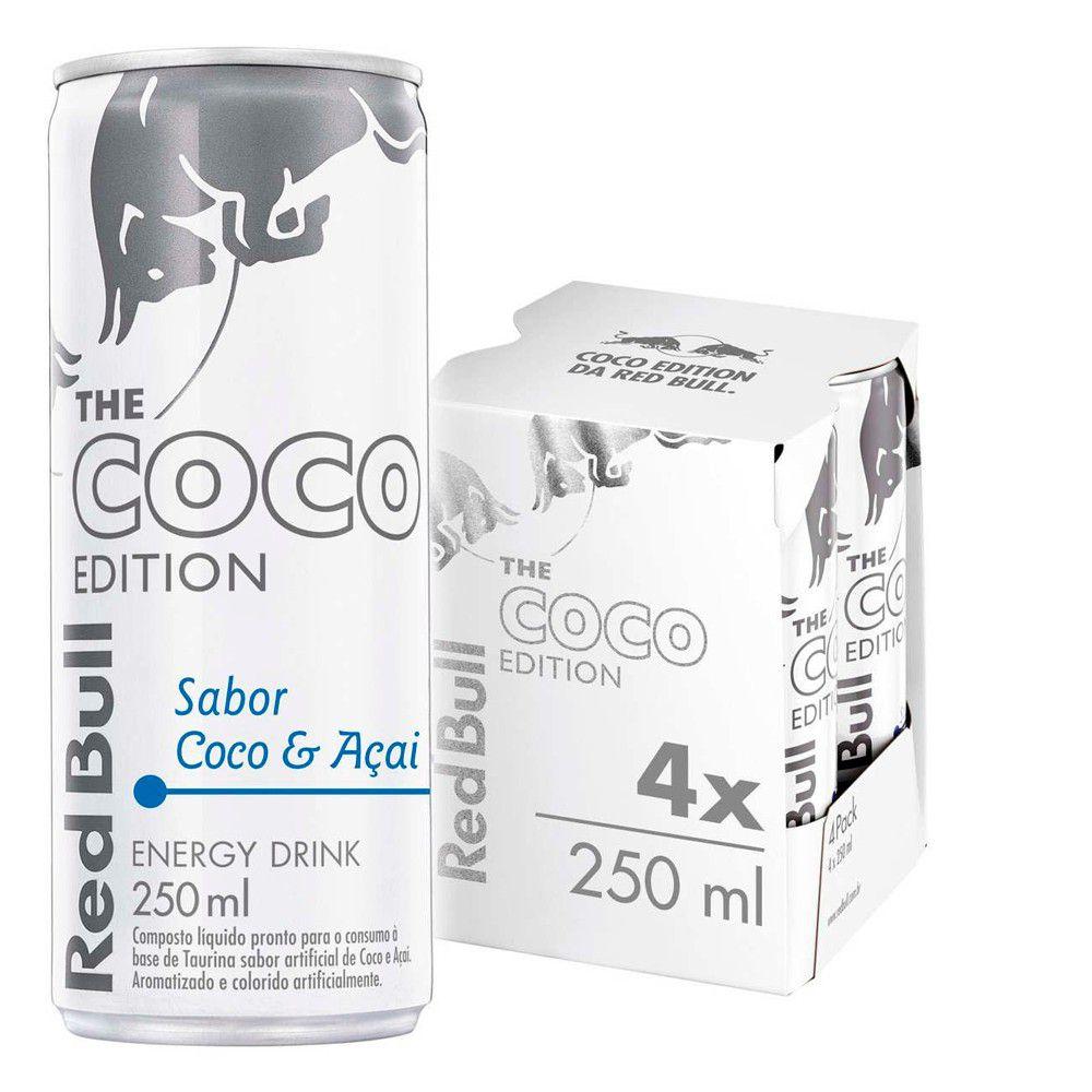 Kit 4 Latas Energético Coco Edition Coco e Açaí 250ml - Red Bull