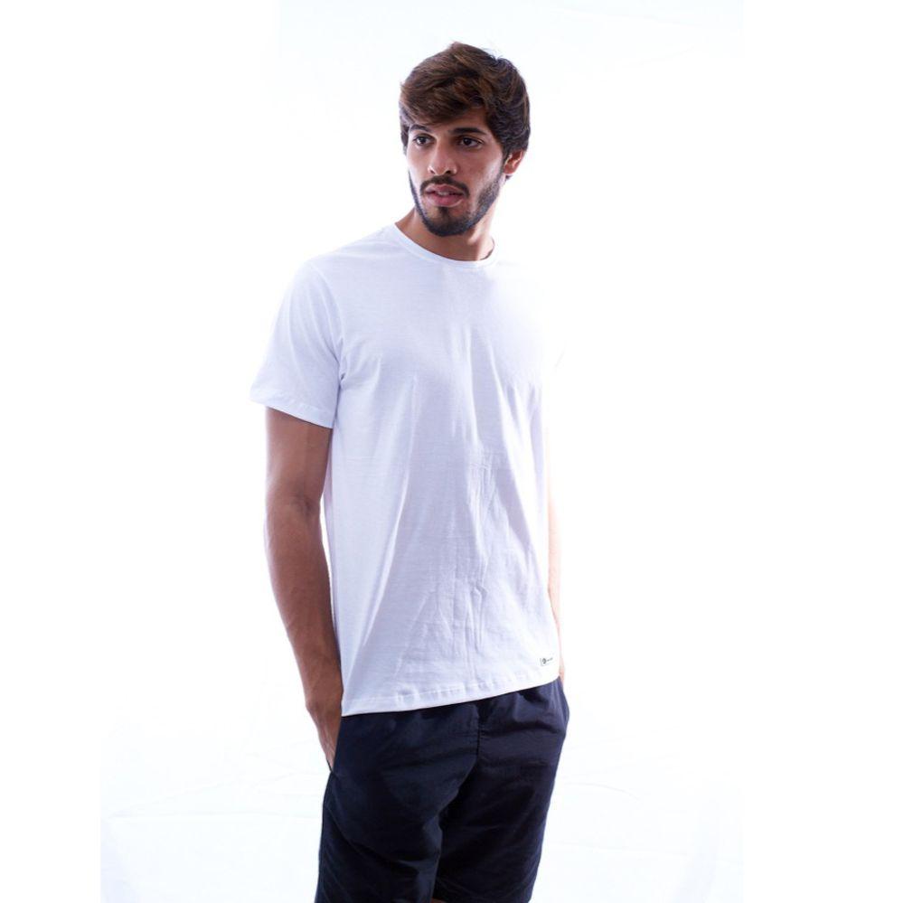 Kit 5 Camisetas Básicas Brancas 100% Algodão - Nepan
