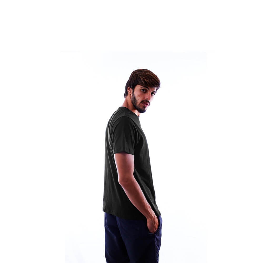 Kit 5 Camisetas Básicas Pretas 100% Algodão Nepan