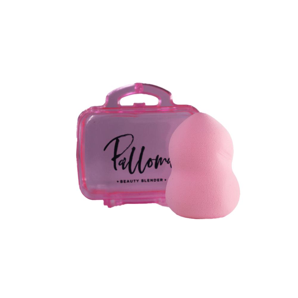 Kit Esponja Beauty Blend Rosa Claro com Case Palloma