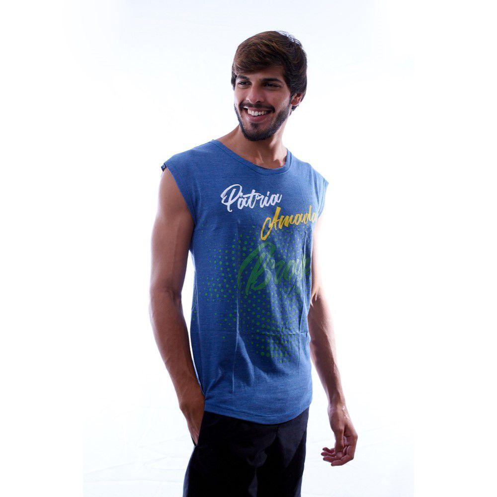 Regata com Tecido de Garrafa Pet Pátria Amada Brasil 12° Jogador - roox