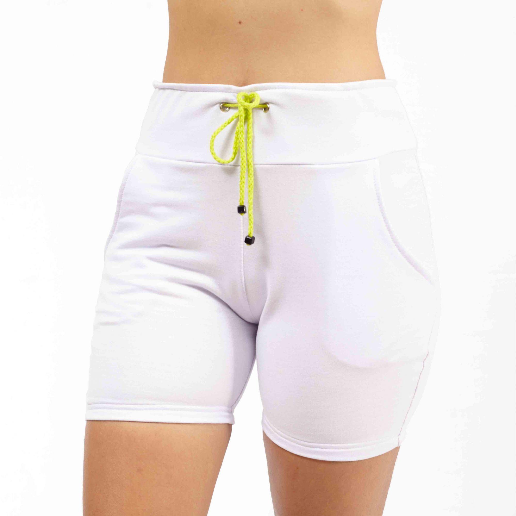 Short Feminino Moletom Branco - Nepan