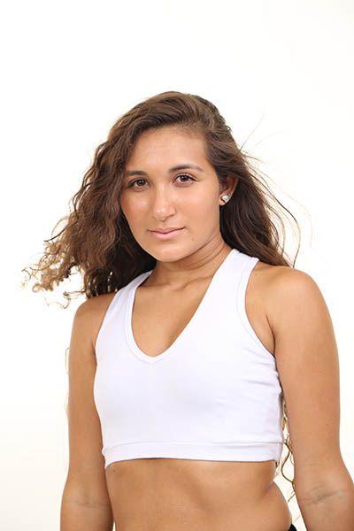 Top Básico Feminino Branco - roox