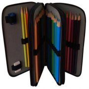 Estojo Escolar Arplas para 46 lápis, em Couro Sintético