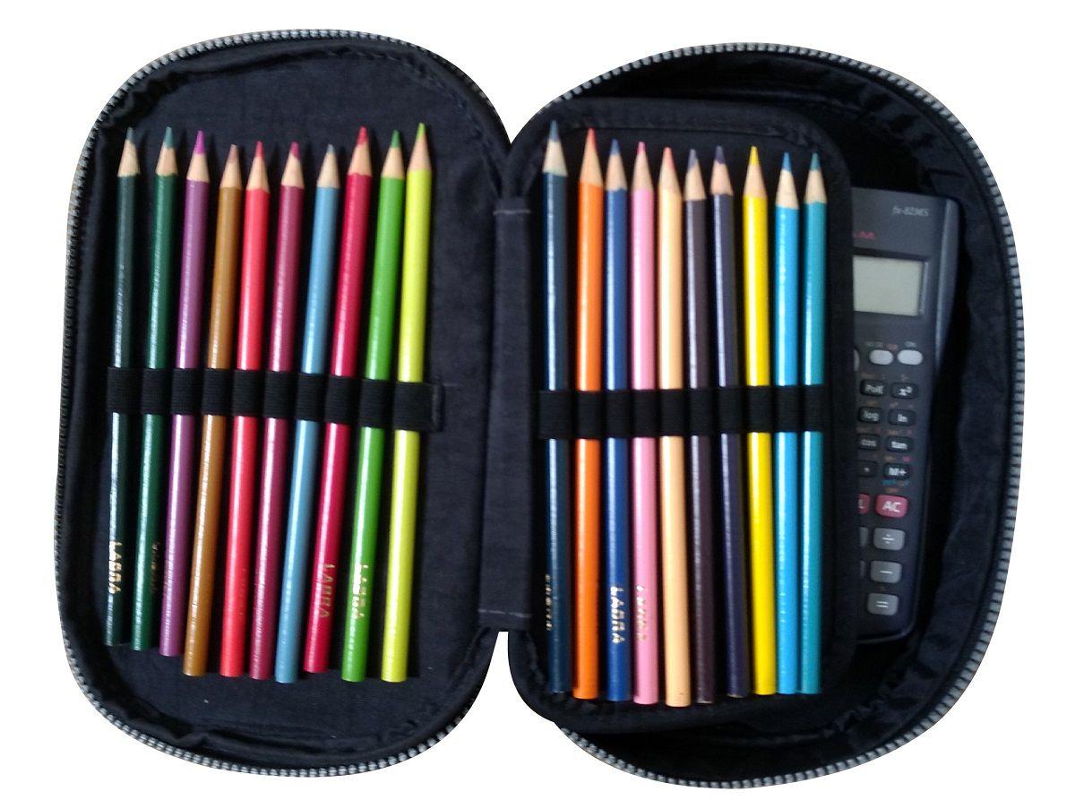 Estojo Box Arplas para 100 Lápis, em tecido Tactel