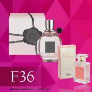 Perfume F36 Inspirado no Flowerbomb da Viktor & Rolf Feminino