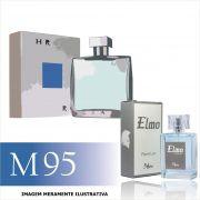Perfume M95 Inspirado no Chrome da Azzaro Masculino