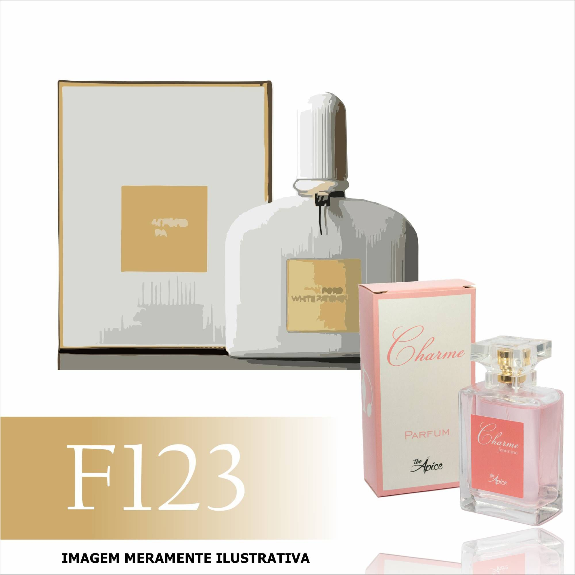 Perfume F123 Inspirado no White Patchouli da Tom Ford Feminino