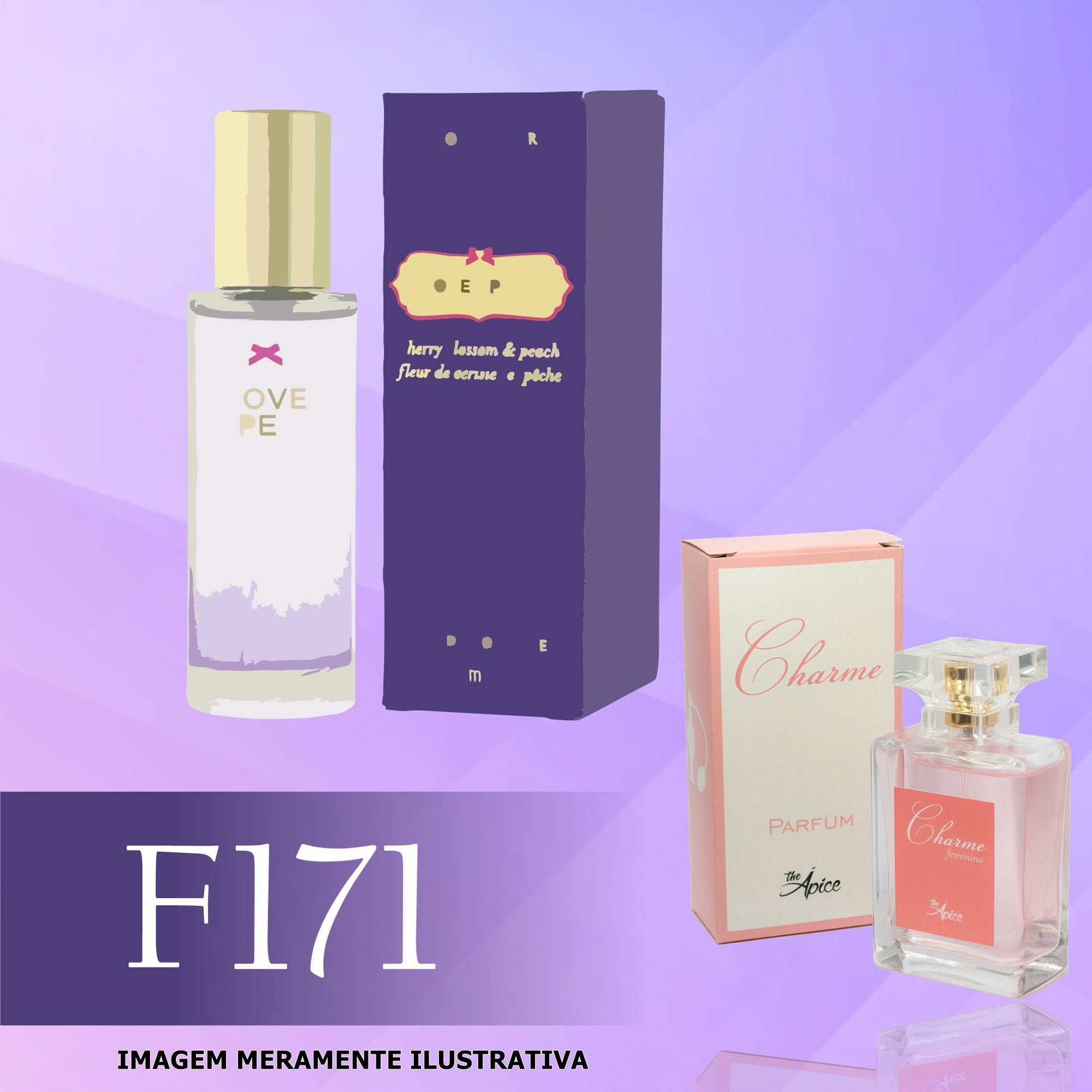 Perfume F171 Inspirado no Love Spell da Victoria's Secret Feminino
