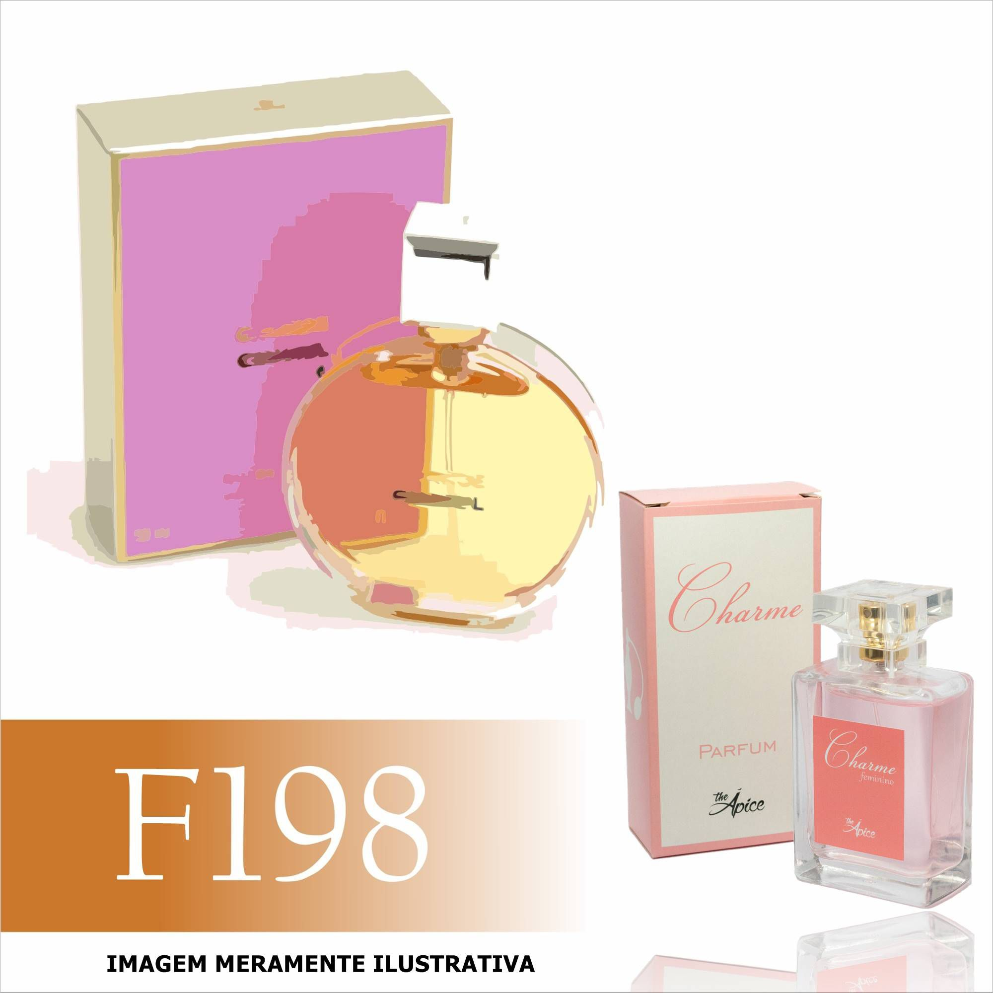 Perfume F198 Inspirado no Chance da Chanel Feminino