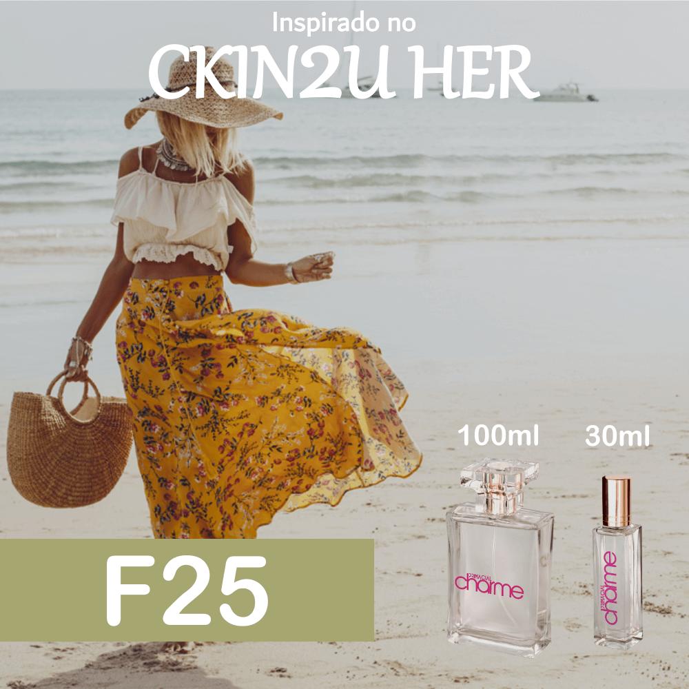 Perfume F25 Inspirado no CKIN2U Her Feminino