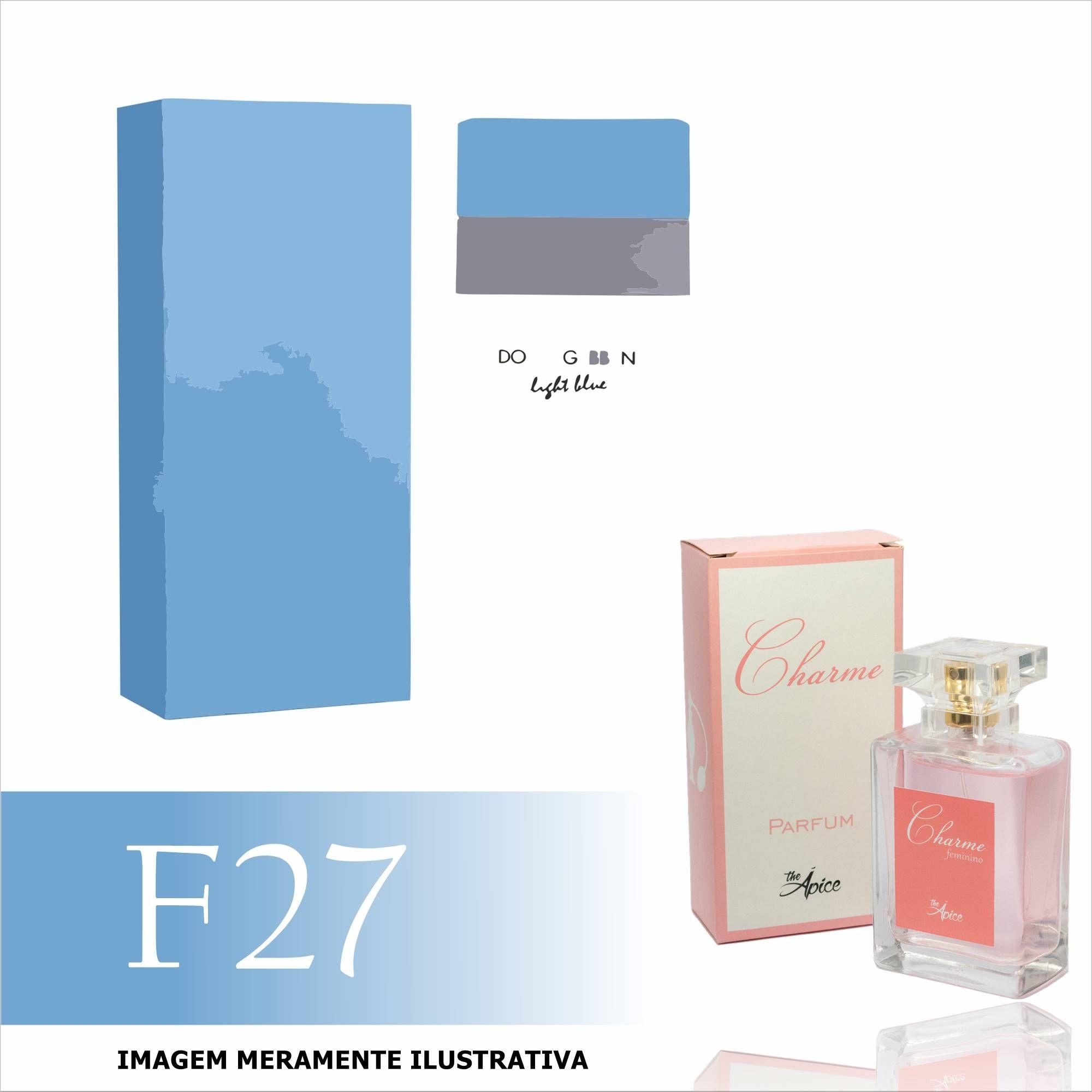 Perfume F27 Inspirado no Light Blue da Dolce & Gabbana Feminino