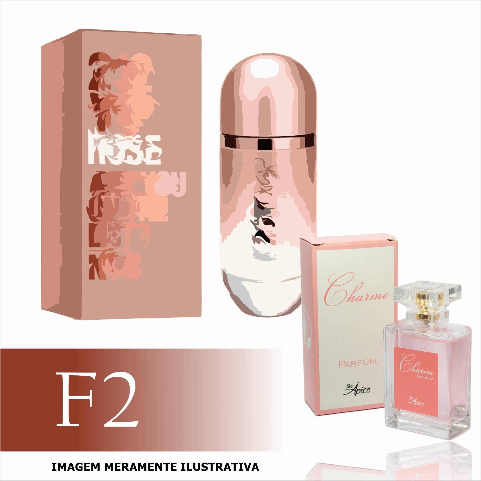 Perfume F2 Contratipo do 212 Vip Rosé da Carolina Herrera Feminino