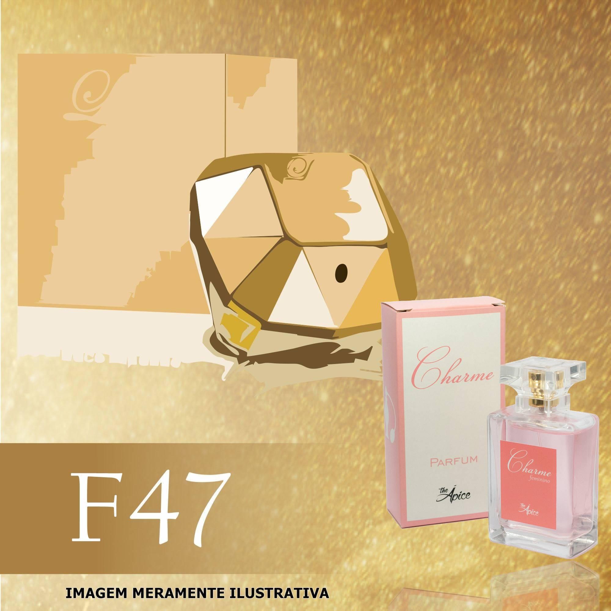 Perfume F47 Inspirado no Lady Million da Paco Rabanne Feminino