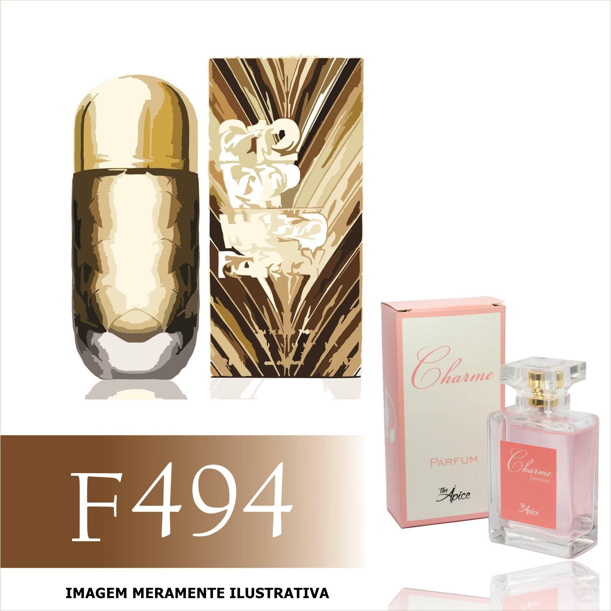 Perfume F494 Inspirado no 212 Vip Wild Party da Carolina Herrera Feminino