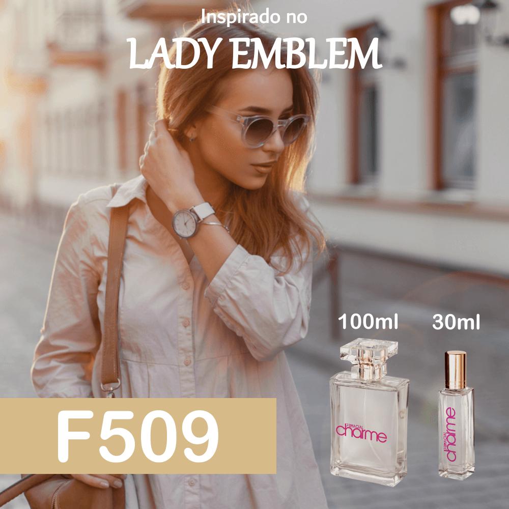 Perfume F509 Inspirado no Lady Emblem Feminino