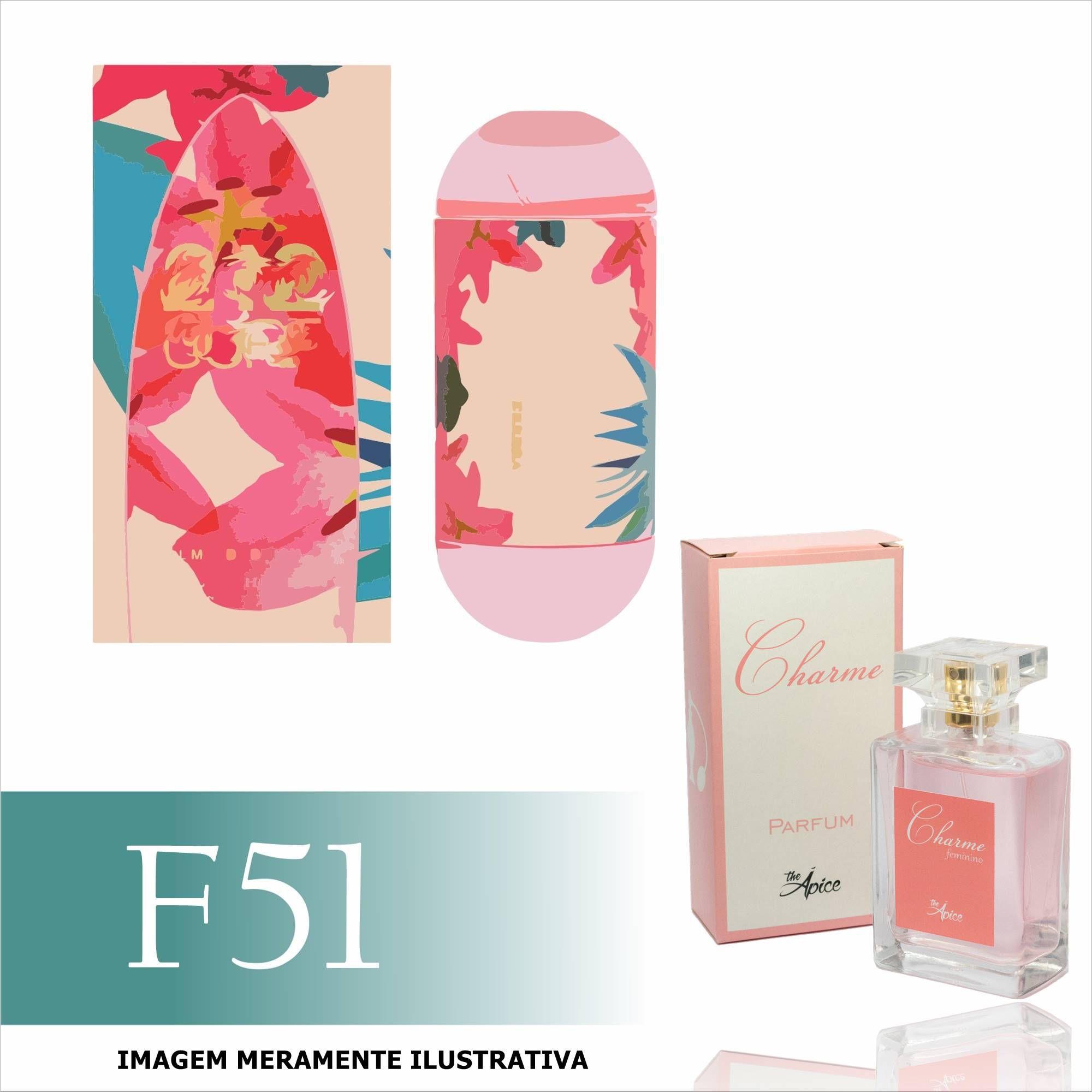 Perfume F51 Inspirado no 212 Surf for Her da Carolina Herrera Feminino