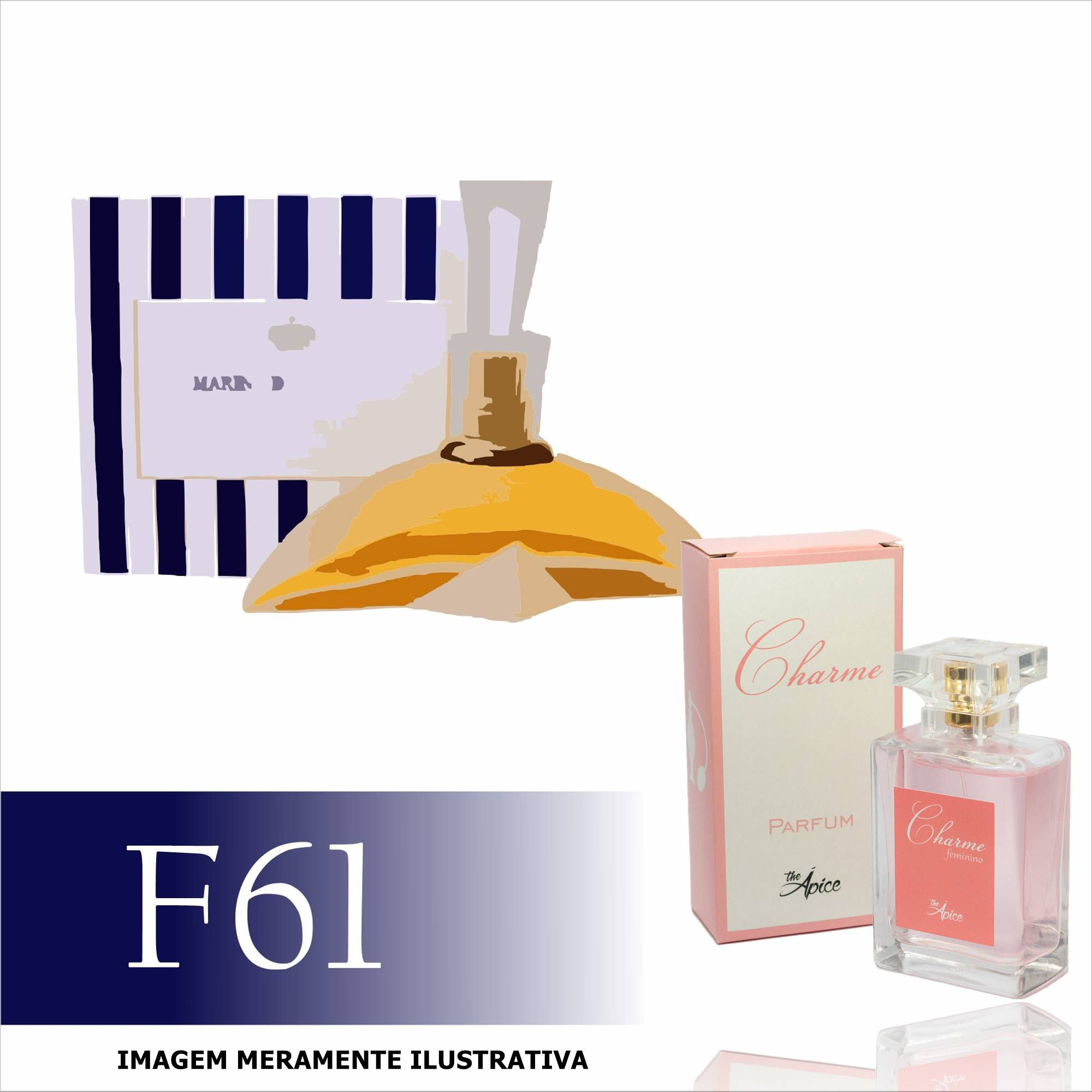 Perfume F61 Inspirado no Princesse Marina de Bourbon Feminino