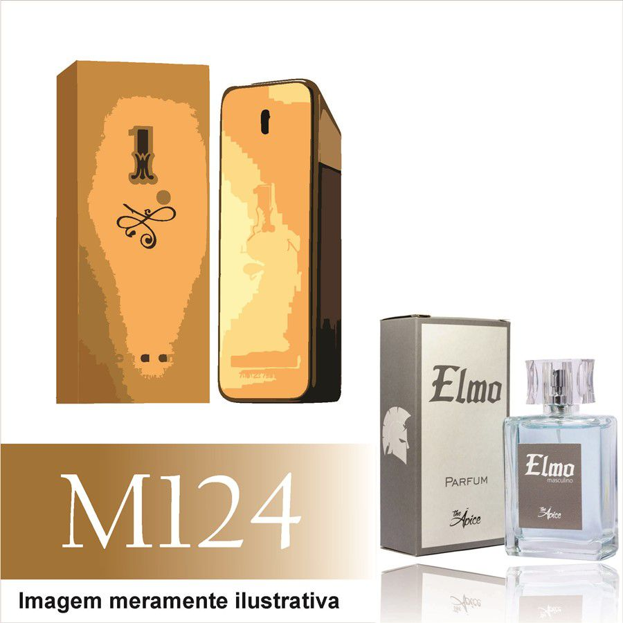 Perfume M124 Inspirado no One Million da Paco Rabanne Masculino
