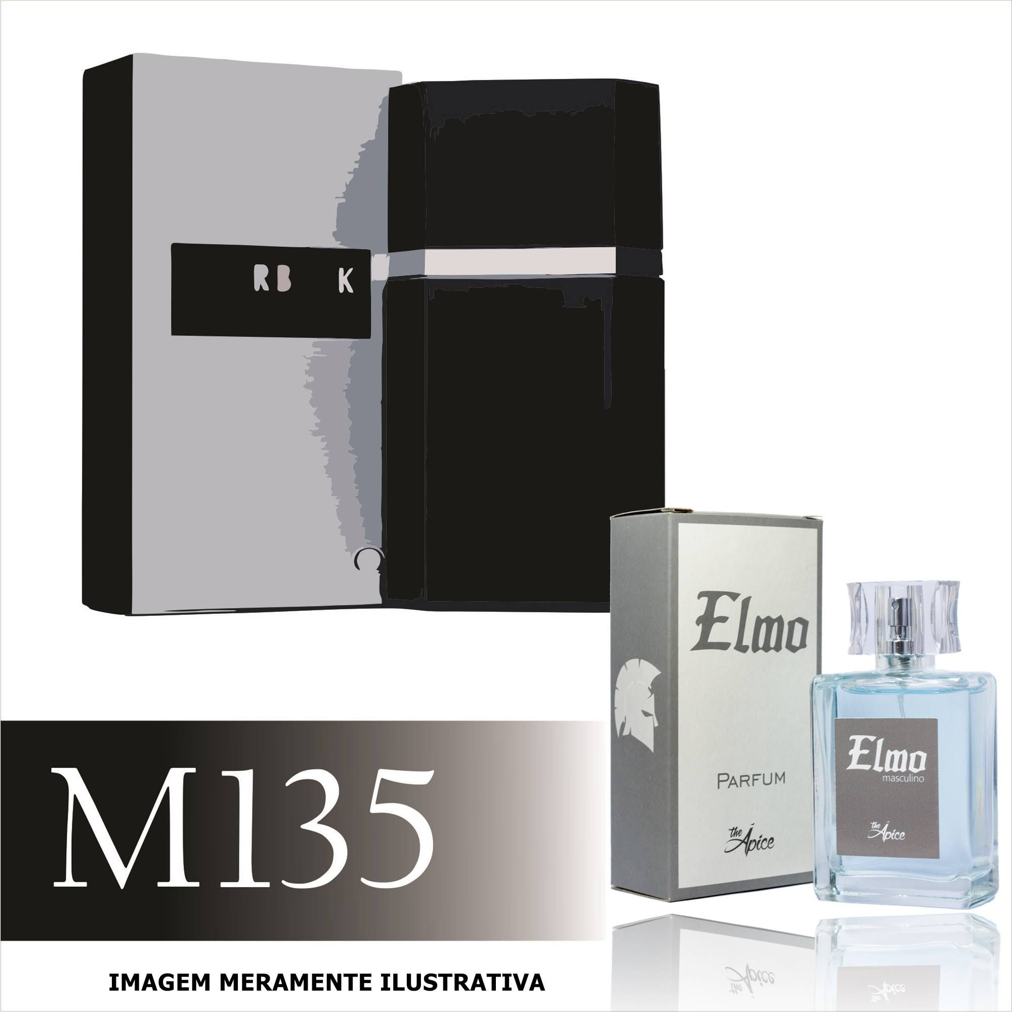 Perfume M135 Inspirado no Silver Black da Azzaro Masculino