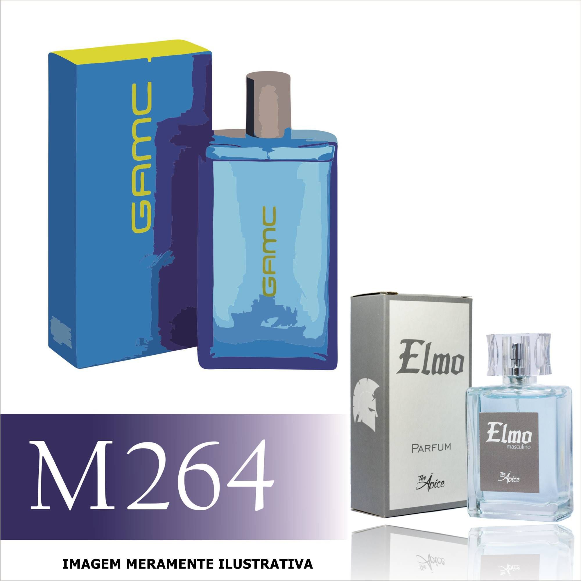 74fcb47d8c Perfume M264 Inspirado no Cool Water Game for Him da Davidoff Masculino