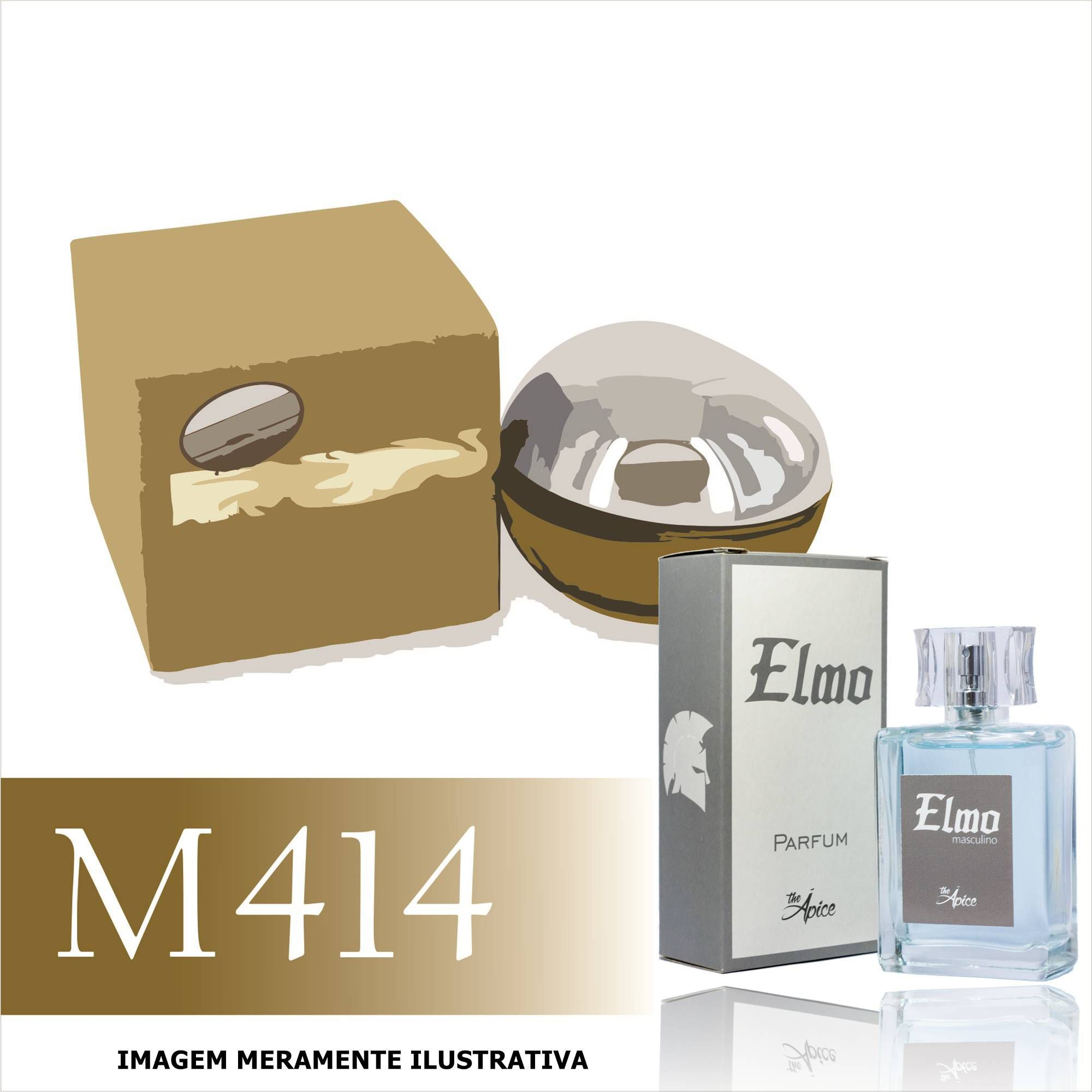 Perfume M414 Inspirado no Be Delicious Men da DKNY Masculino