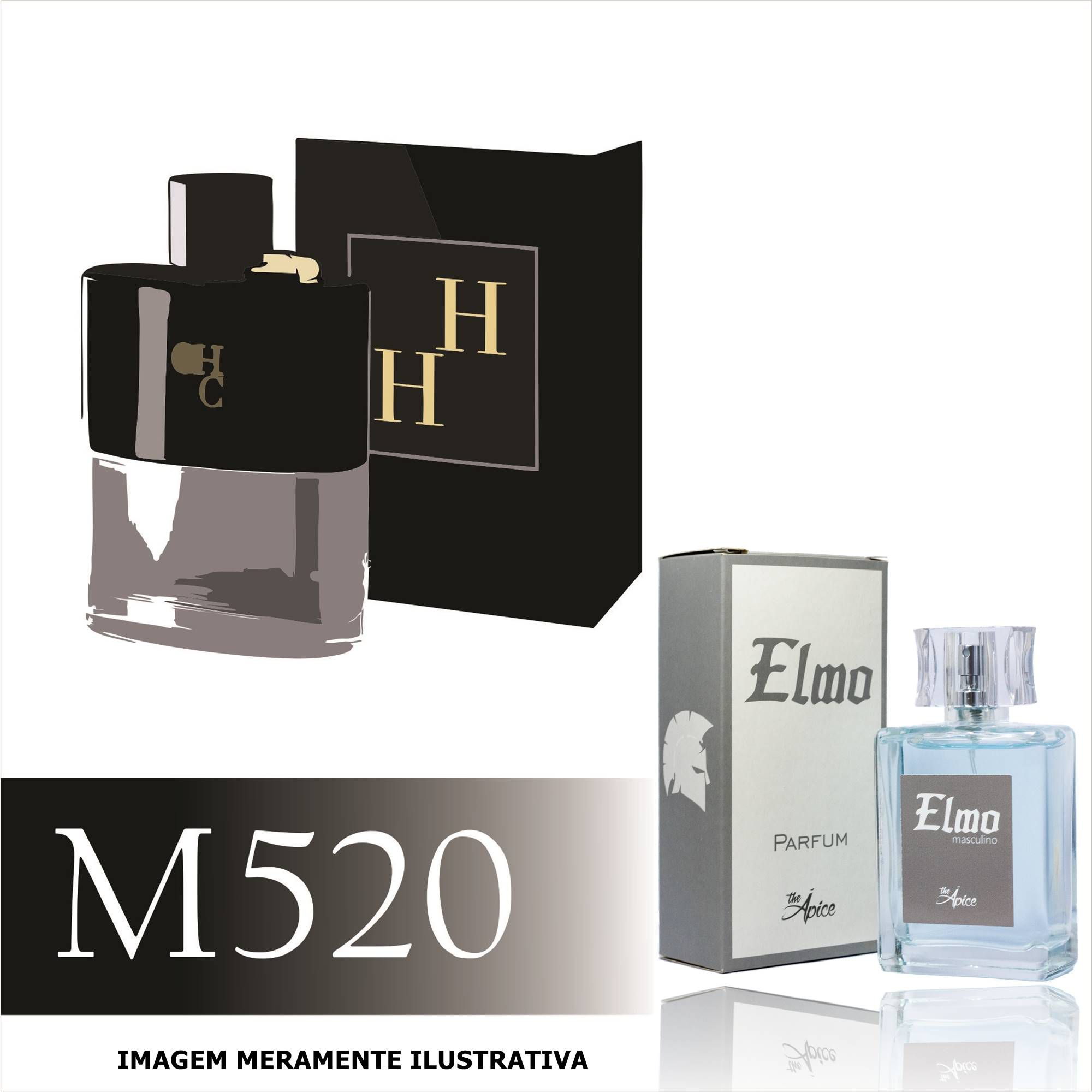 Perfume M520 Inspirado no CH Men Prive da Carolina Herrera Masculino