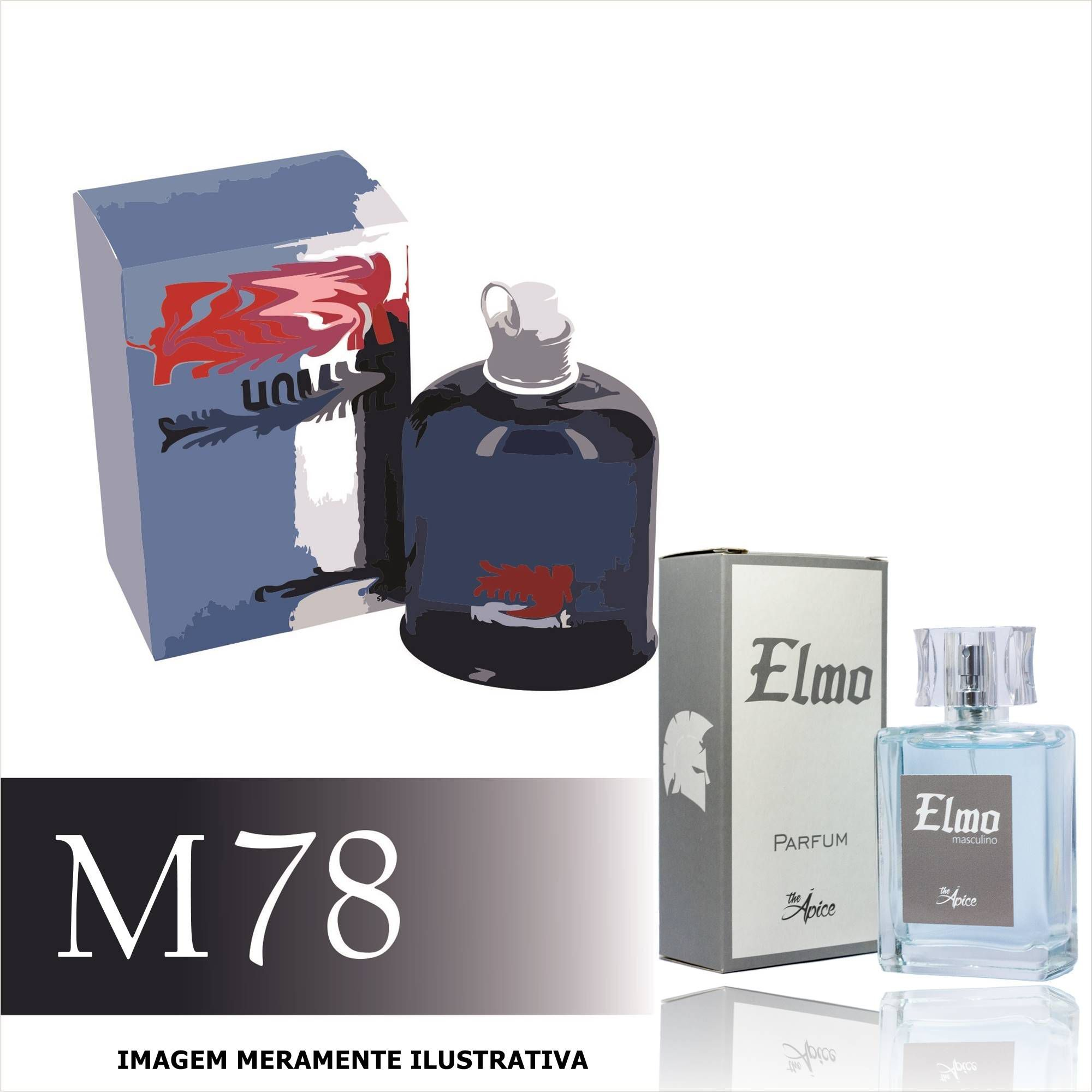 Perfume M78 Inspirado no Amor Pour Homme da Cacharel Masculino