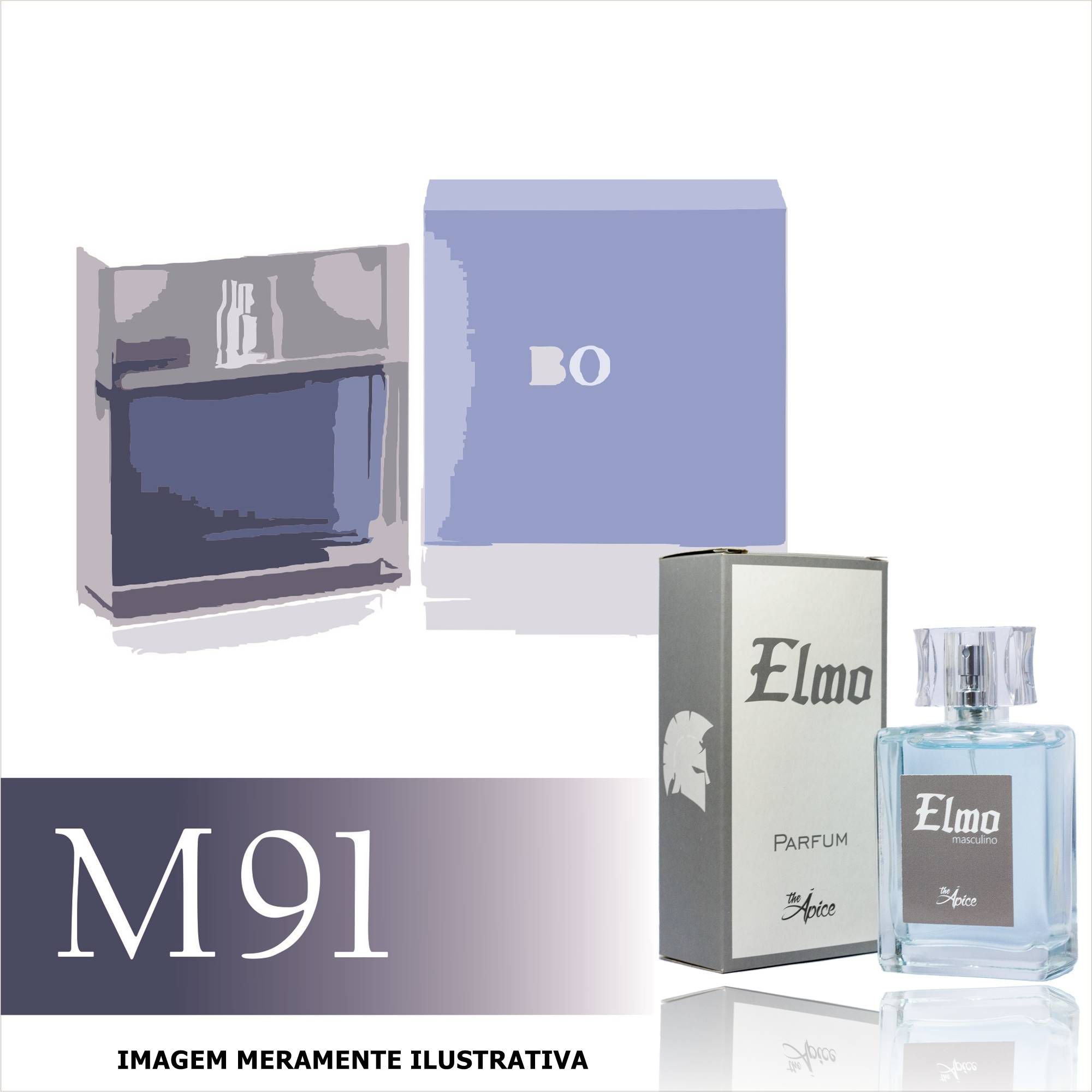 Perfume M91 Inspirado no Boss Pure da Hugo Boss Masculino