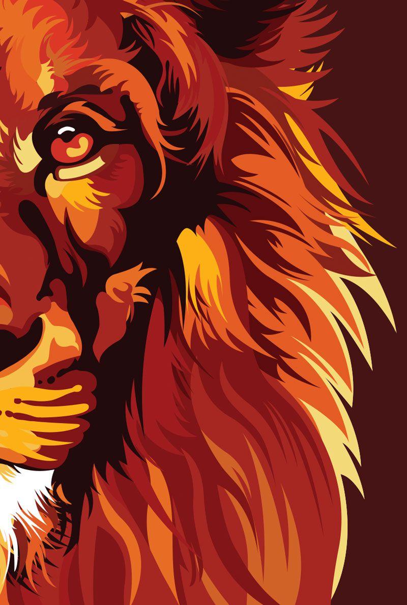 Bíblia NVT Lion Colors Fire - Letra Normal