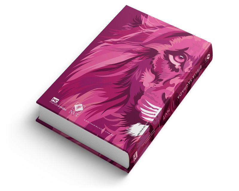 Bíblia NVT Lion Colors Pink - Letra Grande