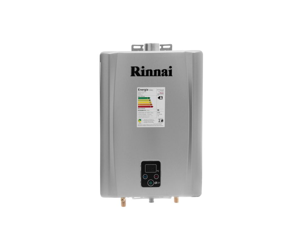 Aquecedor a Gás E21 Prata - Rinnai - 21 litros