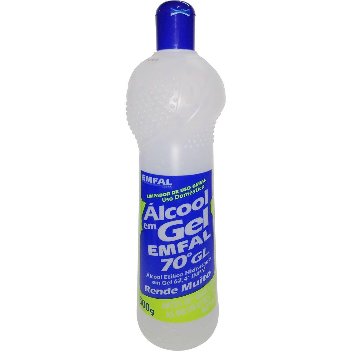 Álcool Gel 70% 500g - Ideal Limpeza Superfícies