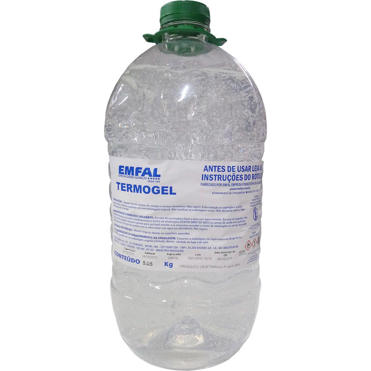 Termogel - Álcool em Gel 70% Pet 5,05 KG - Máximo 3 un por pedido